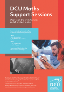 Maths and Oral Irish Support at DCU