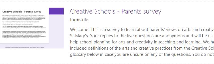 Creative Schools Parents