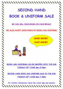 Second Hand Book and Uniform Sale and Booklists
