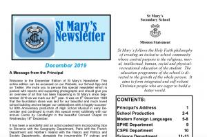 St Mary's Newsletter December 2019