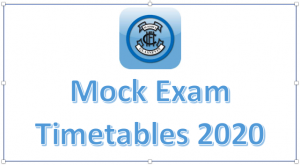 Mock Timetable 2020 for 3rd and 6th years
