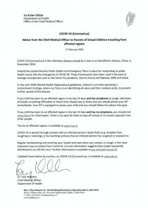 Letter From the Chief Medical Officer from the Department of Health