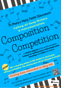 Composition Competition – Closing Date Extended to 6th May!