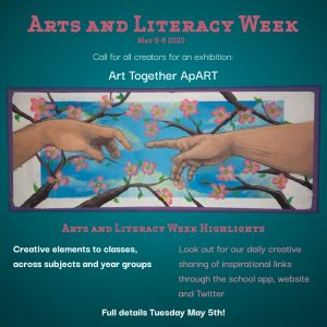 Arts and Literacy Week 5th – 5th May 2020