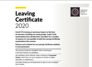 Leaving Certificate Update